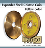 CASCARILLA EXPANDIDA PARA MONEDAS CHINA COLOR AMARILLO TANGO DIAMETRO 1/2 DOLAR
